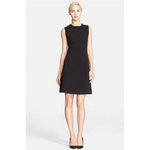 Kate Spade Sleeveless Black Wool Back Layer Dress